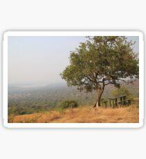 Uganda Lake Mburo Kazuma Lookout Bench Bank Picknick Tisch Picnic Table Landscape Landschaft Sticker
