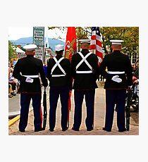 4 Marines Photographic Print