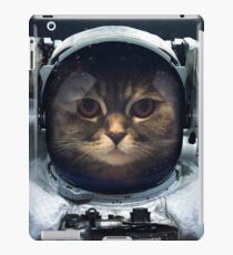 witty Cat astronaut  face Space Galaxy    iPad Case/Skin