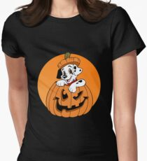Halloween Dalmation Women's Fitted T-Shirt