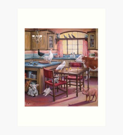 OCCUPATION OF THE KITCHEN Art Print