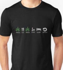 Weed - Eat- Weed - Love - Sleep - Repeat T-Shirt