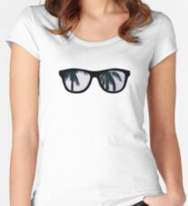 Nerdy Palms Women's Fitted Scoop T-Shirt