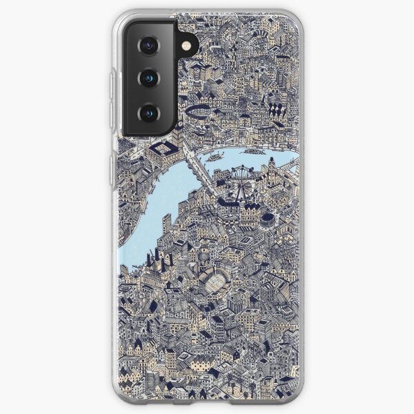 London Map Drawing color Samsung Galaxy Soft Case