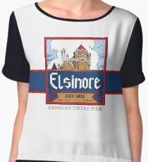 """Elsinore Beer"" - as seen on ""Strange Brew"" Chiffon Top"