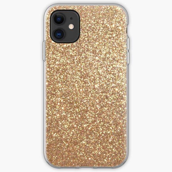 Copper Rose Gold Metallic Glitter iPhone Soft Case