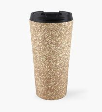 Copper Rose Gold Metallic Glitter Travel Mug