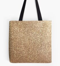 Kupfer Rose Gold Metallic Glitter Tote Bag