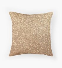 Kupfer Rose Gold Metallic Glitter Dekokissen
