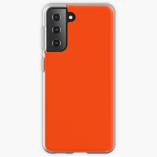 Bright Fluorescent Attack Orange Neon Samsung Galaxy Soft Case