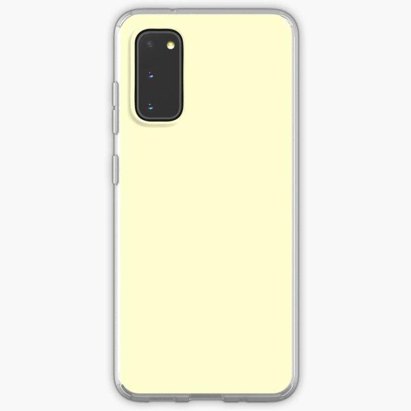Pastel Lemon Yellow Pale Soft Meringue Yellow Solid Color Samsung Galaxy Soft Case