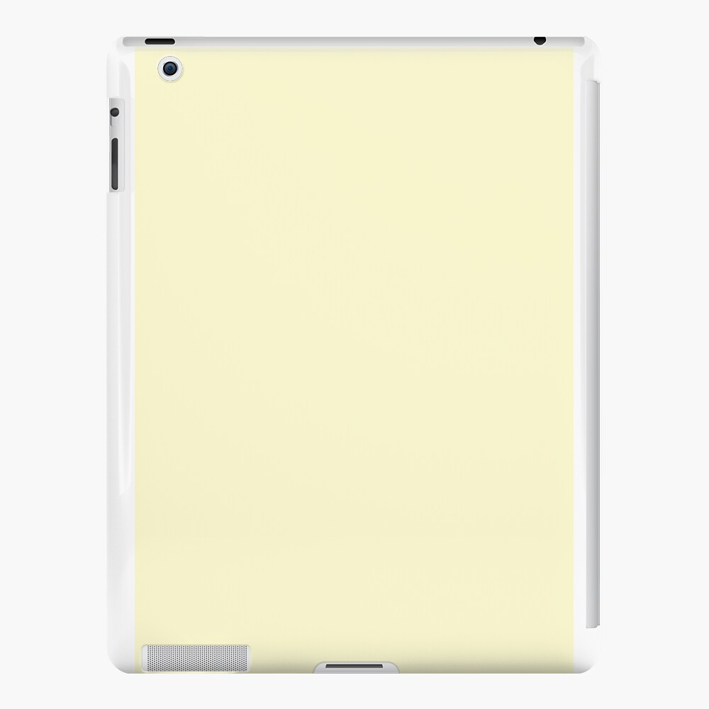 Pastel Lemon Yellow Pale Soft Meringue Yellow Solid Color iPad Cases & Skins