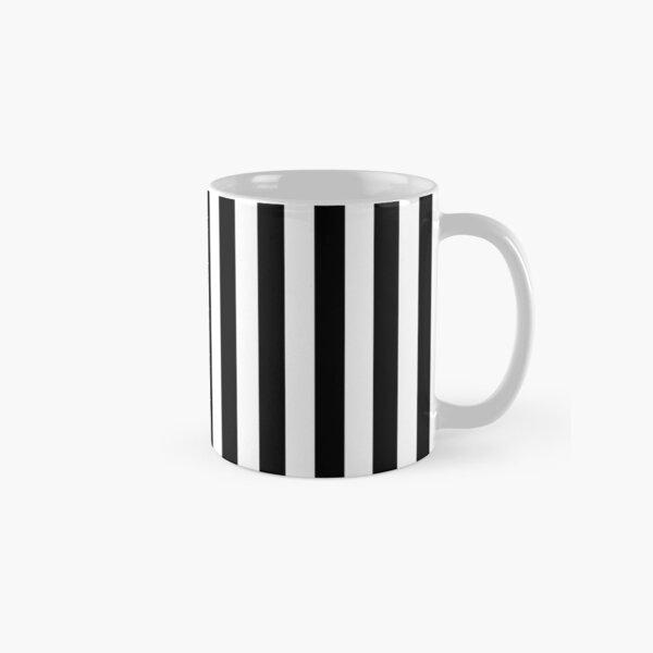 Large Black and White Cabana Stripe Classic Mug