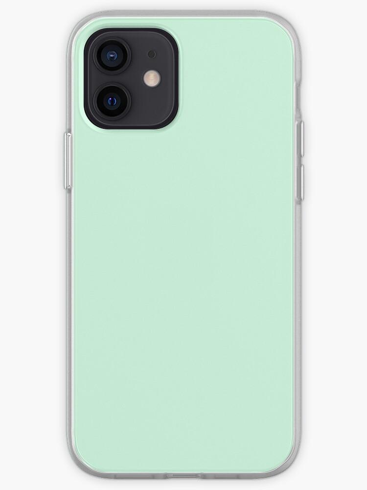 Vert menthe vert menthe pastel vert menthe | Coque iPhone
