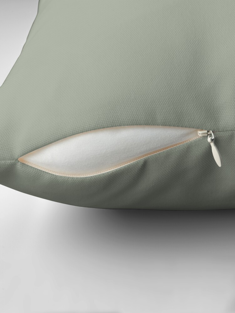Alternate view of Desert Sage Grey Green Solid Color Throw Pillow