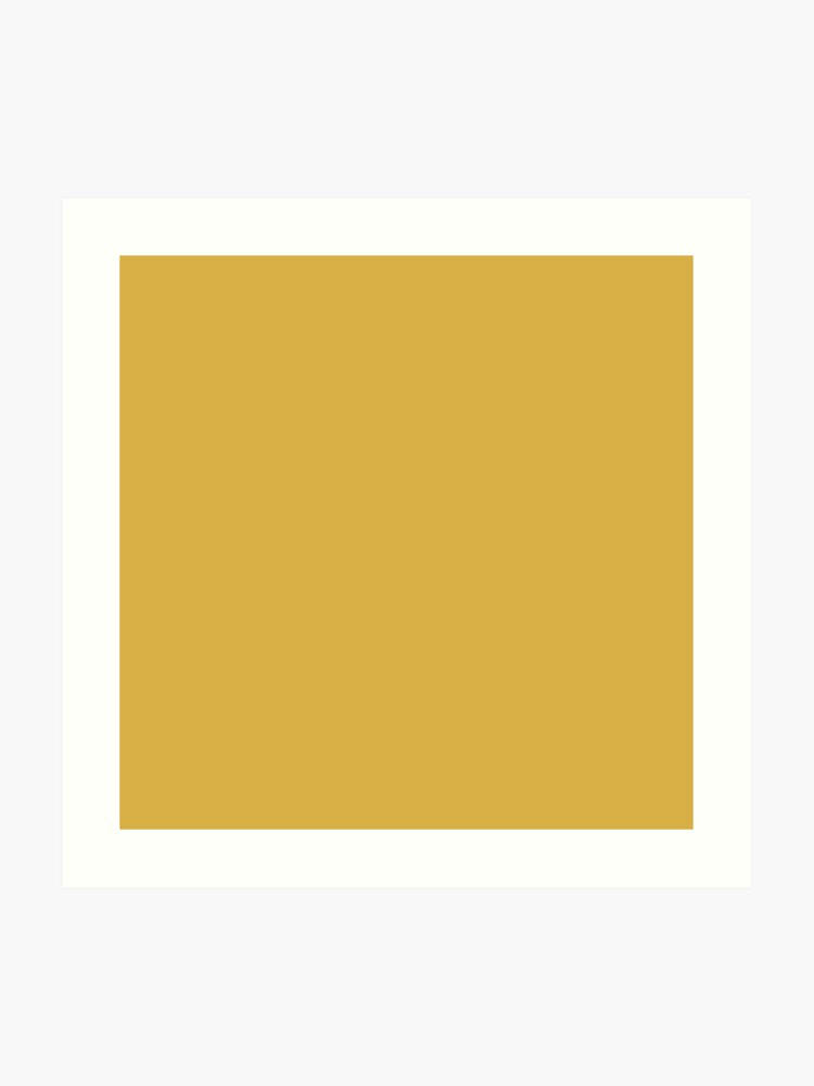 Designer Fall 2016 Color Trends-Spicy Mustard Yellow Solid Color | Art Print