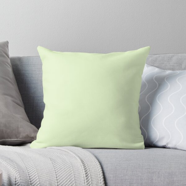 Soft Pale Celery Green Pastel Solid Color Throw Pillow