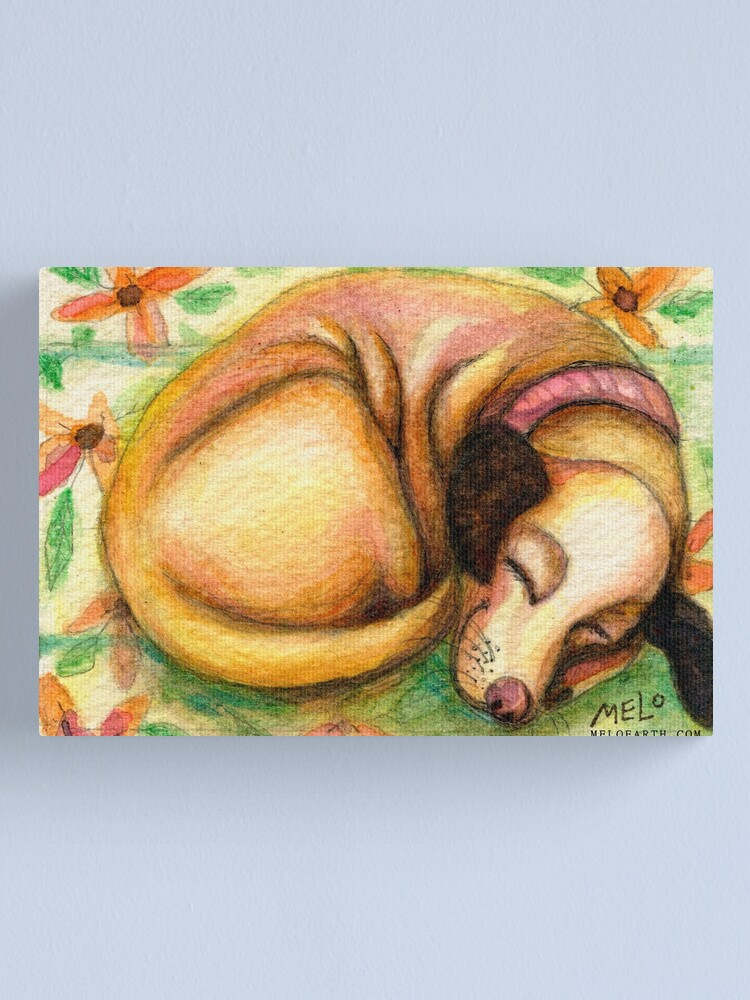 Alternate view of The Dawg Life Canvas Print