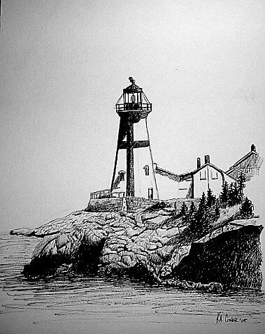 Maine Lighthouses by K. A.  Cooper