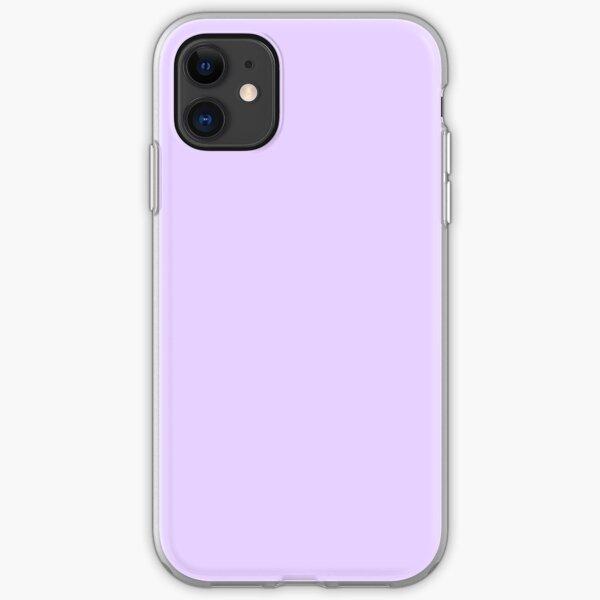 Pale Lilac Solid Color iPhone Soft Case