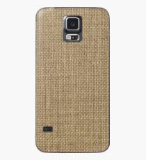 Funda/vinilo para Samsung Galaxy Paño de saco de arpillera beige tejido natural