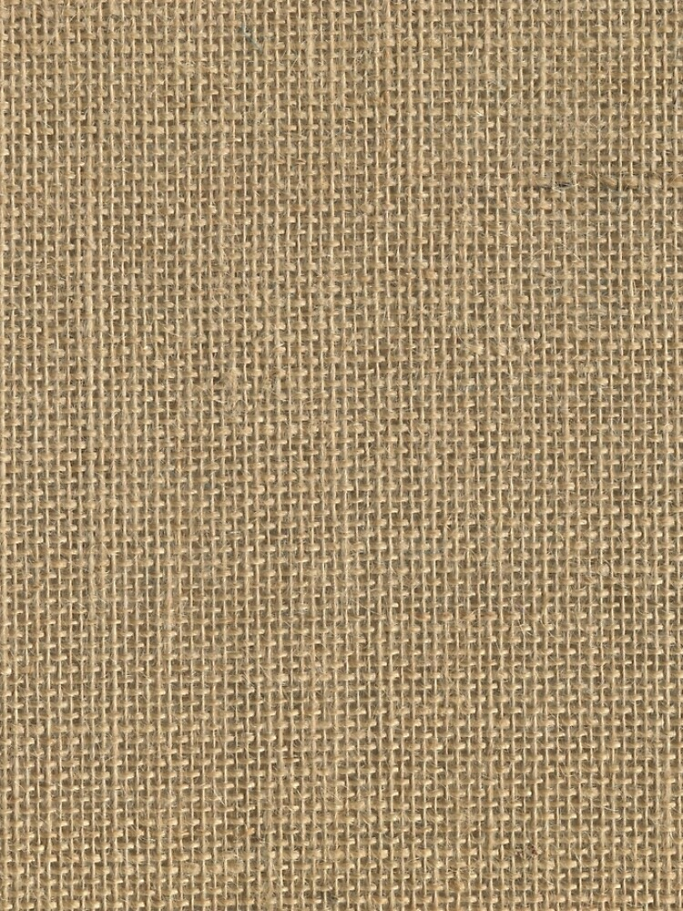Natural Woven Beige Burlap Sack Cloth by podartist