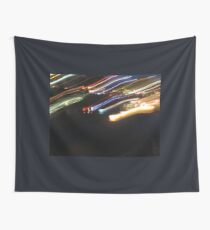 Light Trails at Night Wall Tapestry