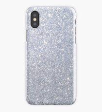 Silver Metallic Sparkly Glitter  iPhone Case