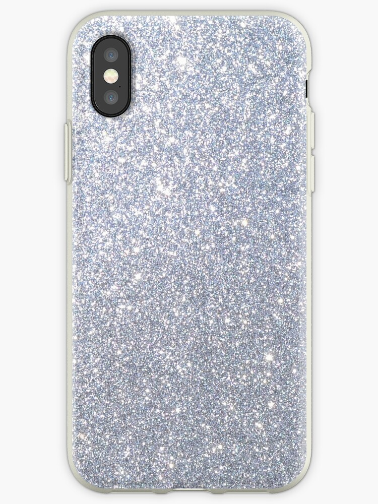 wholesale dealer 8b134 f8e9f 'Silver Metallic Sparkly Glitter ' iPhone Case by podartist