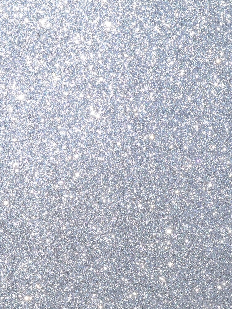 Silver Metallic Sparkly Glitter  by podartist