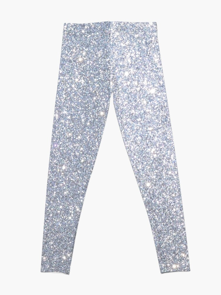 Alternate view of Silver Metallic Sparkly Glitter  Leggings