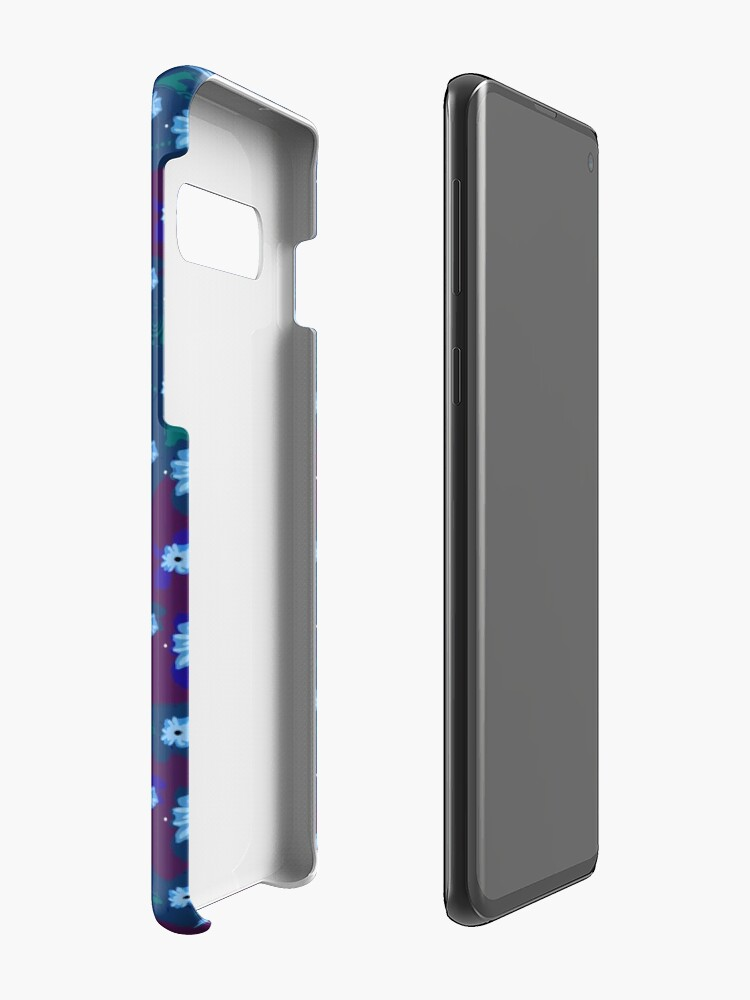 Alternate view of Blue Floral Pattern Case & Skin for Samsung Galaxy