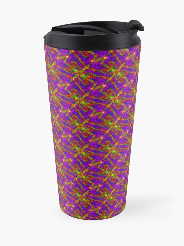 Alternate view of Firefly Pattern Pink Travel Mug