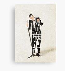 Typographic and Minimalist Frank Sinatra Illustration Canvas Print