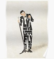 Typographic and Minimalist Frank Sinatra Illustration Poster