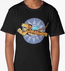 FLYING TIGERS INSIGNIA - (Weathered Version) - WORLD WAR II - AMERICAN VOLUNTEER GROUP Long T-Shirt