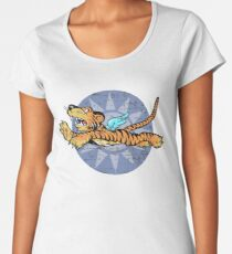 Flying Tigers Tshirt - Weathered Version - Airplane Insignia - World War II - Military Memorabilia - Military Insignia Tshirt Women's Premium T-Shirt