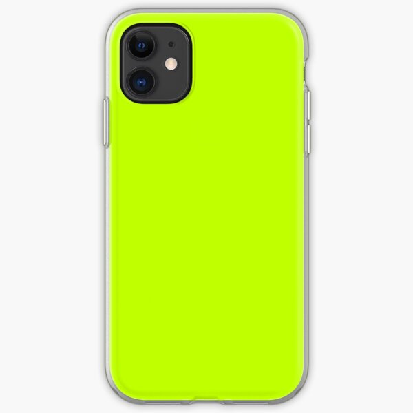 Bitter Lime Neon Green Yellow Solid Color iPhone Soft Case