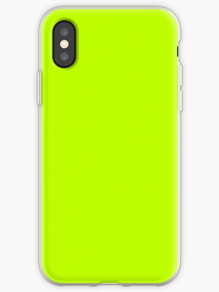 sale retailer 41042 05576 'Bitter Lime Neon Green Yellow Solid Color' iPhone Case by podartist