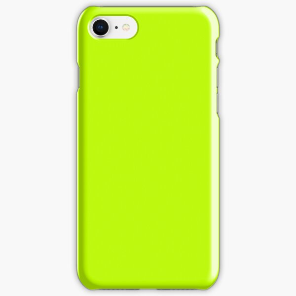 Bitter Lime Neon Green Yellow Solid Color iPhone Snap Case