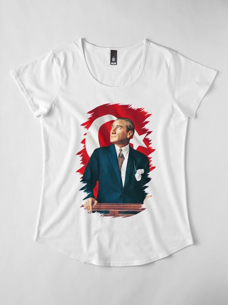 Alternative Ansicht von Mustafa Kemal Atatürk Premium Rundhals-Shirt