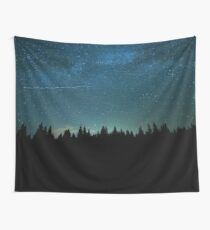 Forest, Wanderlust and a Shooting Star Wall Tapestry