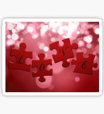 Love Puzzle Sticker