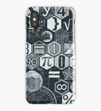 Math's Lesson (Black and White) iPhone Case/Skin