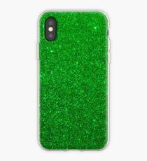 Emerald Green Shiny Metallic Glitter iPhone Case
