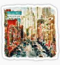 Winter in Chinatown - New York Sticker
