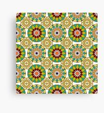 Pattern with Blooming Mandalas Canvas Print