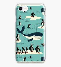 Whales, Penguins and other friends iPhone Case/Skin