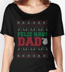Feliz Navi Dad Ugly Christmas Sweater Design Women's Relaxed Fit T-Shirt