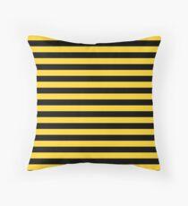 Gelbe und schwarze Honey Bee Stripes Dekokissen